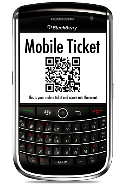 Paperless Tickets at Blackberry WES 2009 and 2010