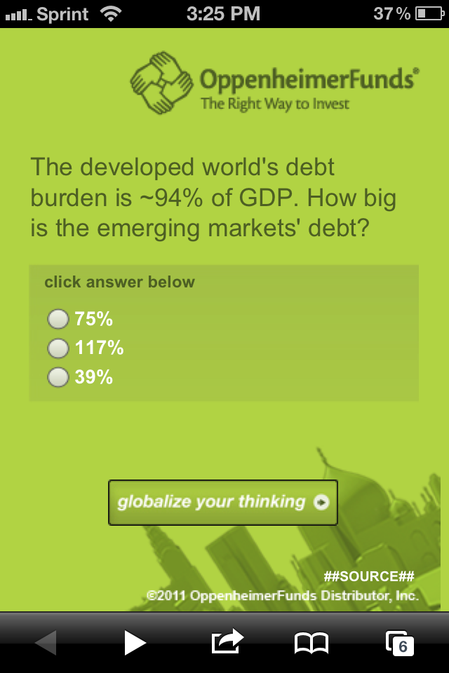 globalize your thinking with oppenheimer funds
