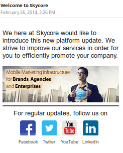 add social media buttons to email templates