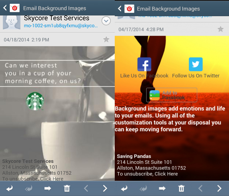 customize email backgrounds with images
