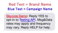 reply yes to optin to testing api