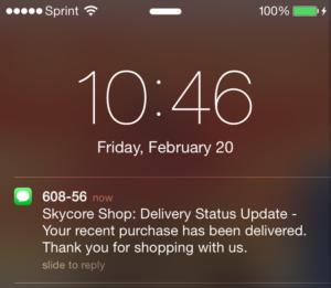 skycore shop message preview