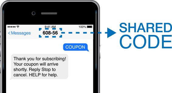 shared short codes example