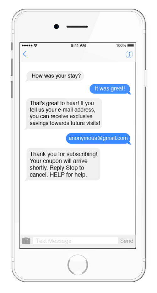 Text Message Marketing 2-Way Conversation