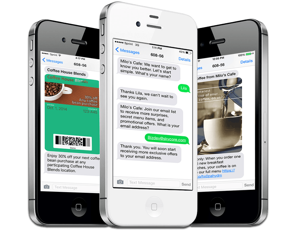 an example of sms mobile marketing