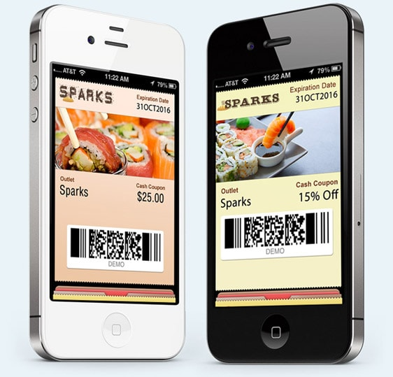 try mobile commerce using the mobile wallet