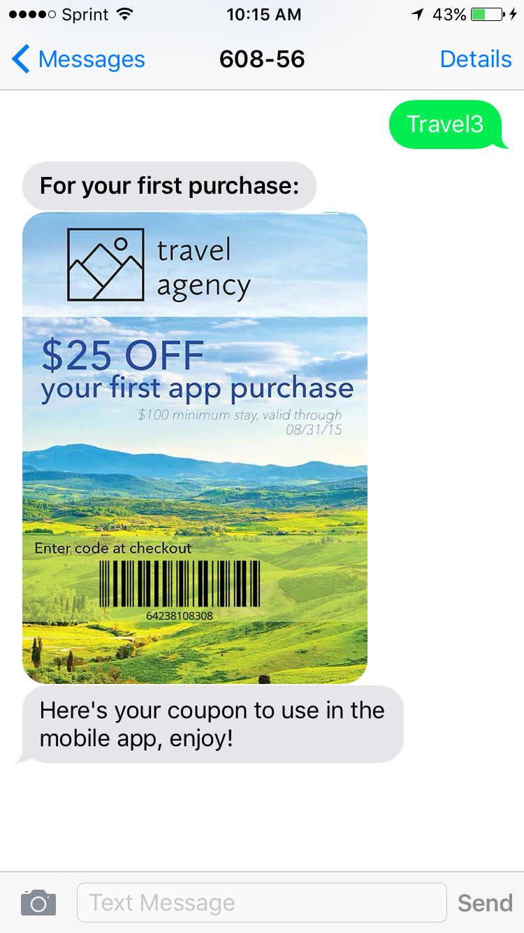 Personalized Image text message