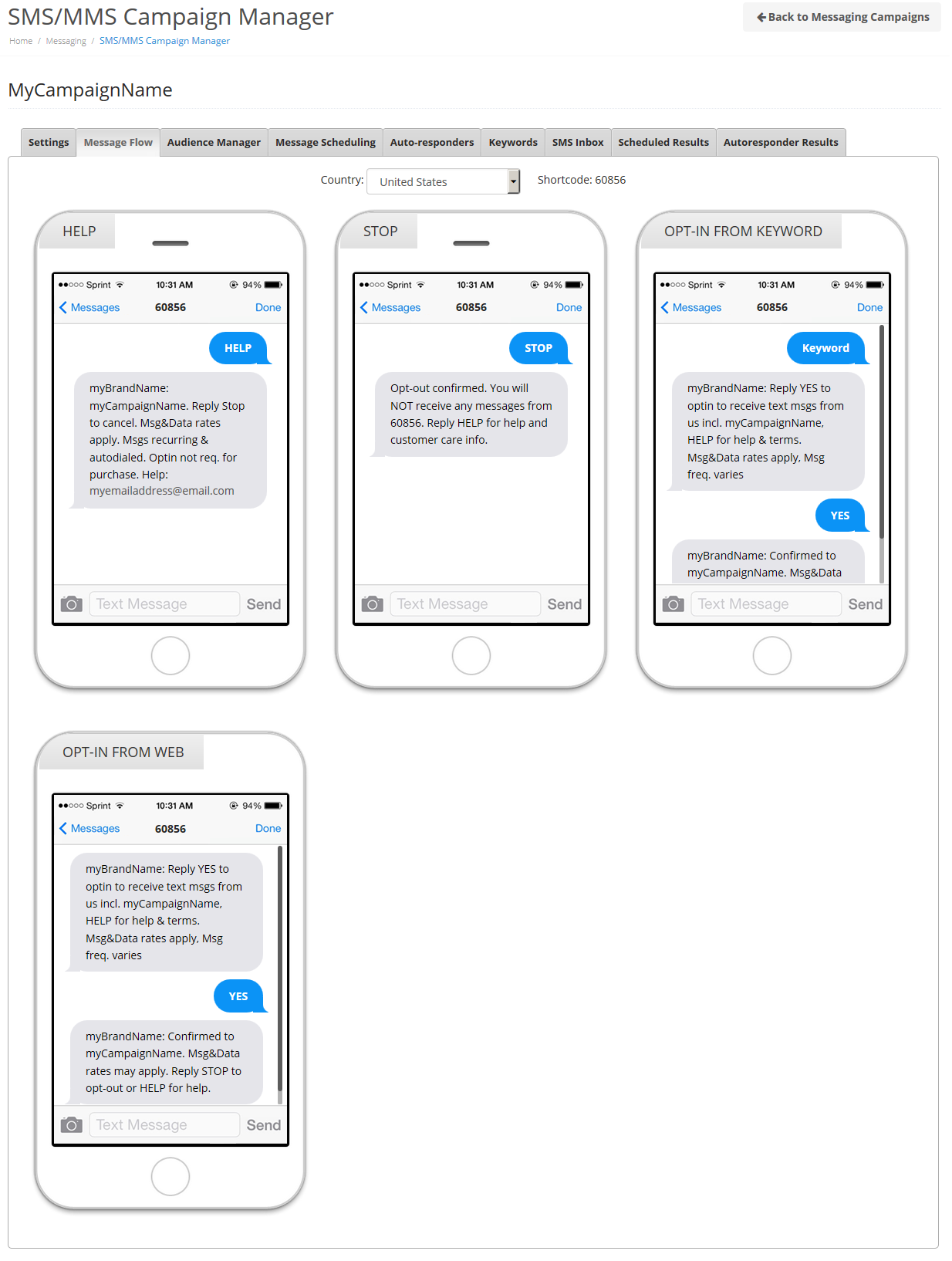 message flow preview