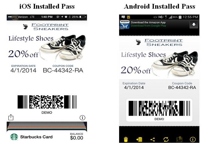 install mobile wallet item