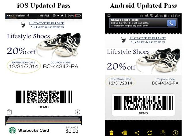 update installed mobile wallet item