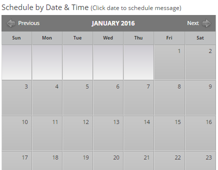 Schedule SMS Campaigns