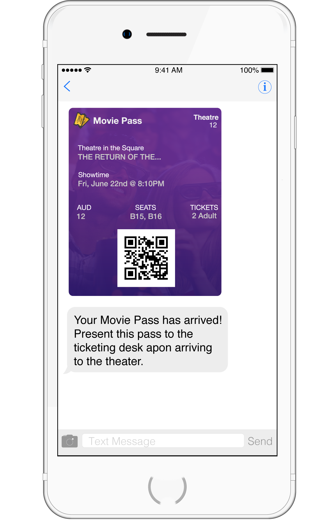 MMS Movie Ticket Delivery