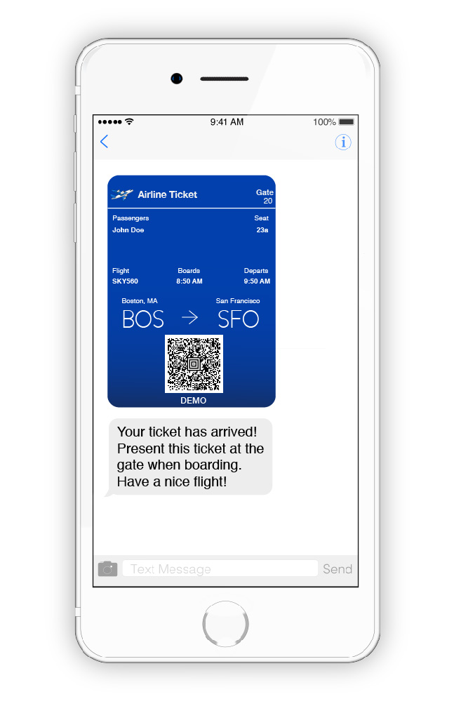 Mobile Airline Ticket Delivery
