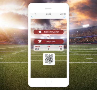 QR Code Ticket on Mobile