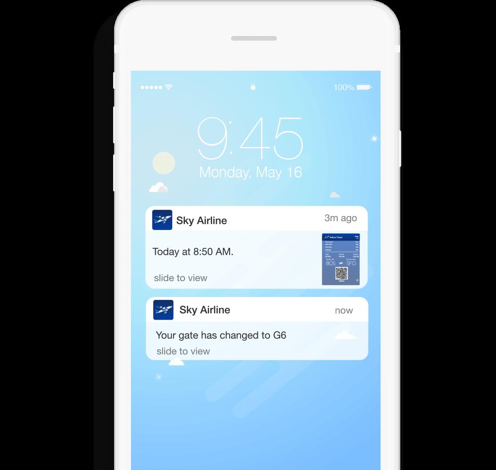 Mobile Wallet Digital Card Notification